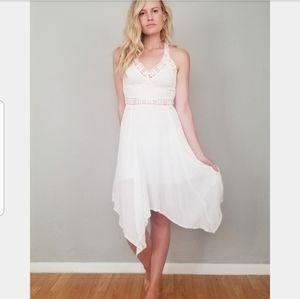 LF Seek the Label White Boho Dress NWT Size S